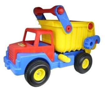 Wader Quality Toys QT Ogromna ciężarówka wywrotka samochód 74cm Ciche Koła 37916