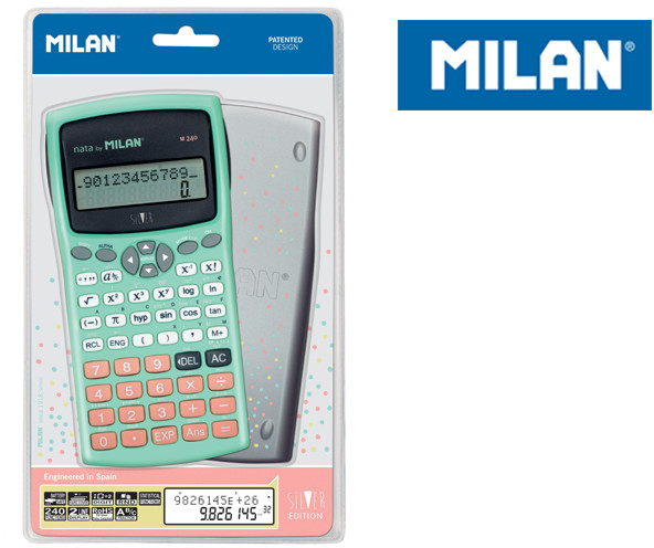 MILAN Kalkulator naukowy, Silver, 240 funkcji