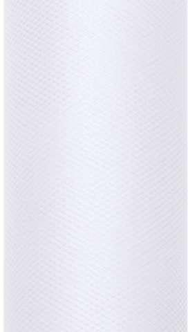 PartyDeco Tiul gładki, biały, 0,30 x 9 m TIU30-008