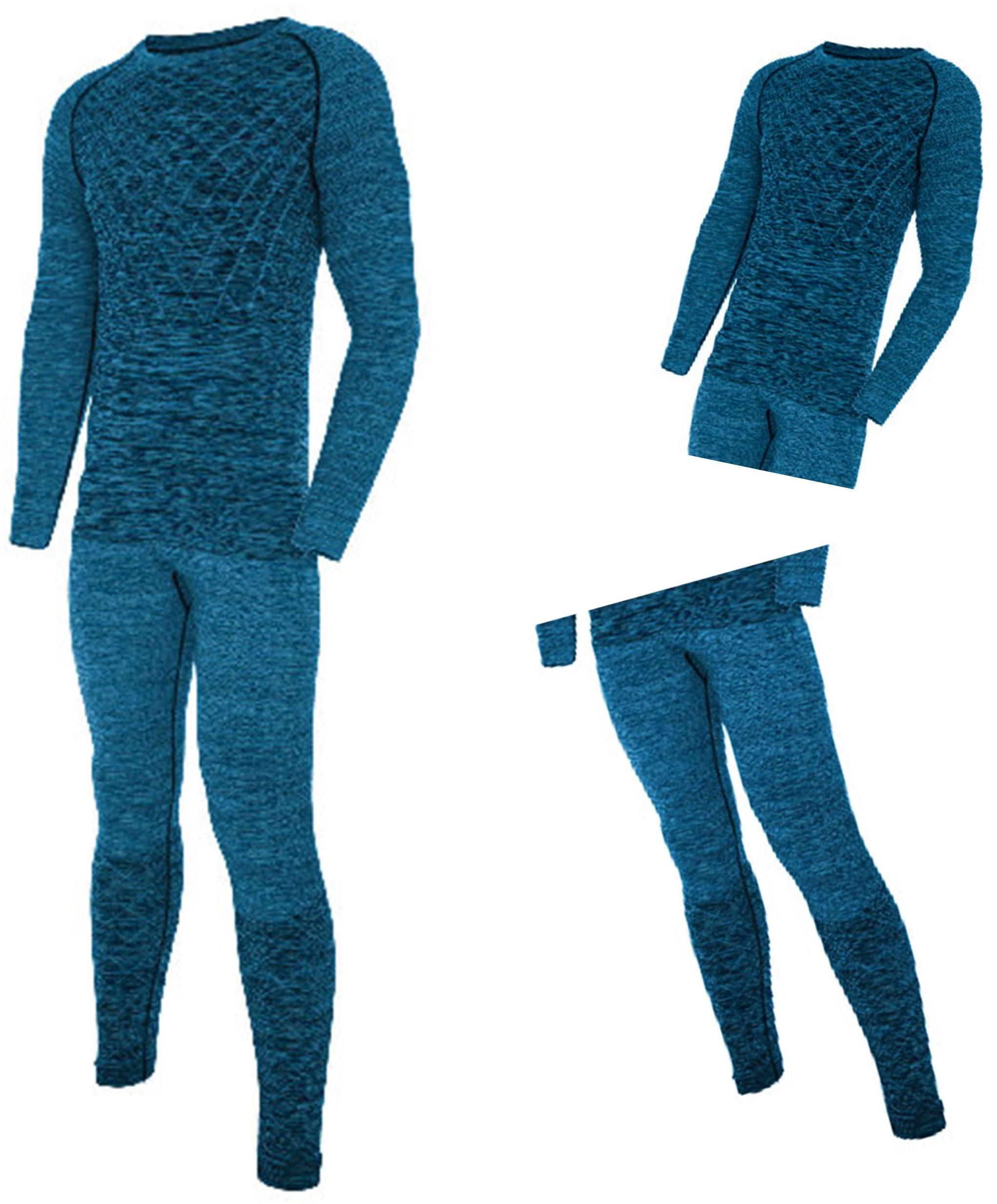 Viking Bielizna termoaktywna męska LUCAS BAMBOO niebieska XL -OS-01_0444