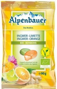 Alpenbauer Cukierki z nadzieniem o smaku imbirowo-limonkowym i imbirowo-pomarańczowym VEGAN BIO 90 g - ALPENBAUER 8988-139E6