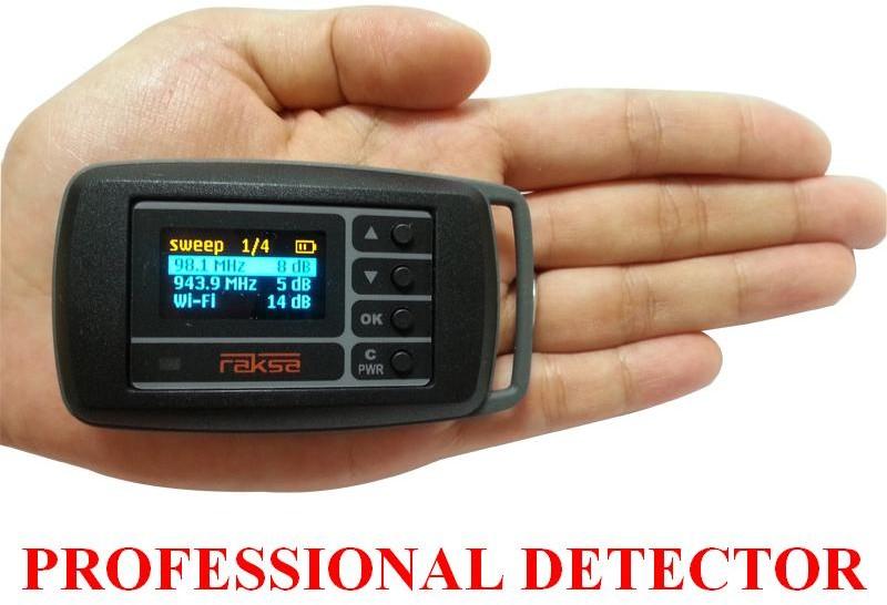 Raksa Bardzo Profesjonalny Wykrywacz Podsłuchów Lokalizatorów GPS MiniKamer RAKSA iDet + Pamięć