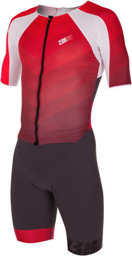 ZEROD strój triathlonowy RACER TT SUIT szaro-czerwony