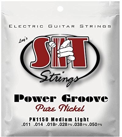 SIT Strings 11-50 Gauge Power Groove Czysty nikiel Średnie światło Struny do gitary elektrycznej PN1150