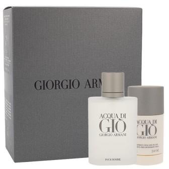 Giorgio Armani Giorgio Giorgio Acqua di Gio Pour Homme zestaw Edt 100ml + 75ml deo stick dla mężczyzn