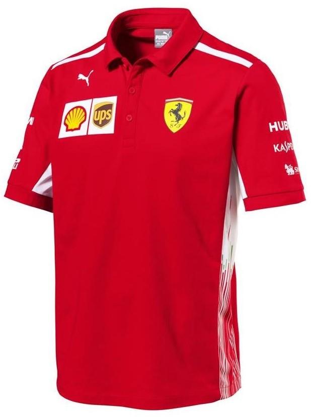 Ferrari SCUDERIA Koszulka męska polo Scuderia Team Tee 130181077 600 220