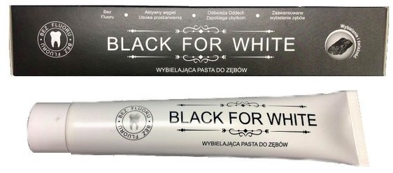 Bio2You Bio2You BLACK FOR WHITE Czarna wybielająca Pasta do zębów 75ml