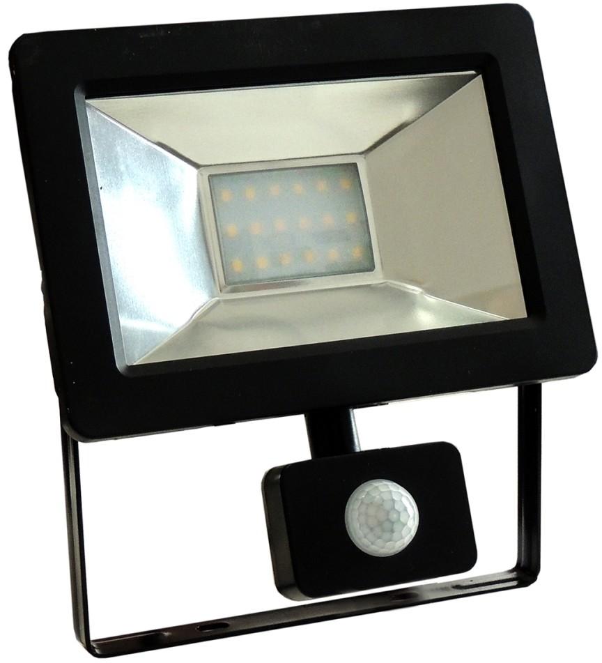 Wojnarowscy LED Reflektor z czujnikiem NOCTIS 2 SMD LED/20W/230V IP44 1350lm czarny
