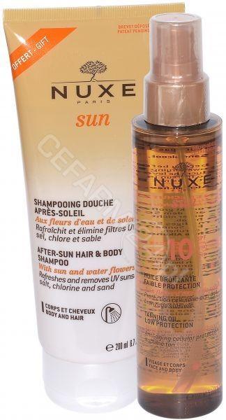 Nuxe Sun Huile Bronzante Visage Et Corps, olejek do opalania twarzy i ciała SPF10 150ml