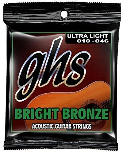 ghs GHS bb10u 1046Ultra Light Bright z brązu zestaw Acoustic Guitar String BB10U