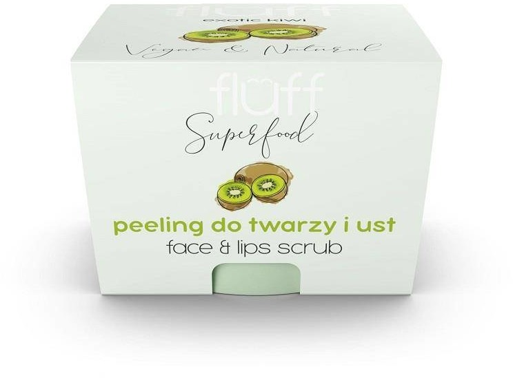 Fluff Face And Lips Scrub peeling do twarzy i ust Kiwi 80g 90151-uniw