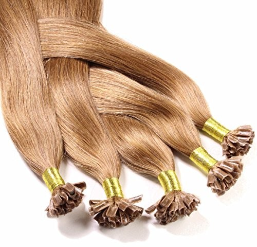hair2heart 50X 0.5G przedłużenie włosów prawdziwe włosy dopinki-z włosami u-TIP Keratin-bondings, długość 40cm//zagęszczanie włosów/gładka strukturanajwyższa jakośćwiele kolorów bardzo dobra j 4260306720538