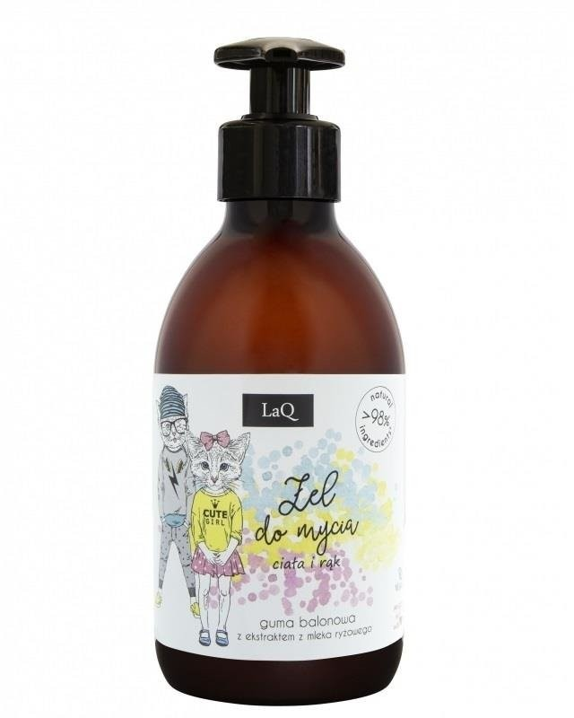 LaQ LaQ Naturalny żel do kąpieli o zapachu gumy balonowej z ekstraktem z mleka ryżowego 300ml 82822-uniw