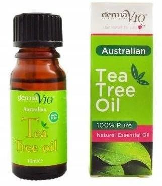 DermaV10 DERMAV10 Tea Tree Oil 100% Olejek z drzewa herbacianego 10ml 55211-uniw