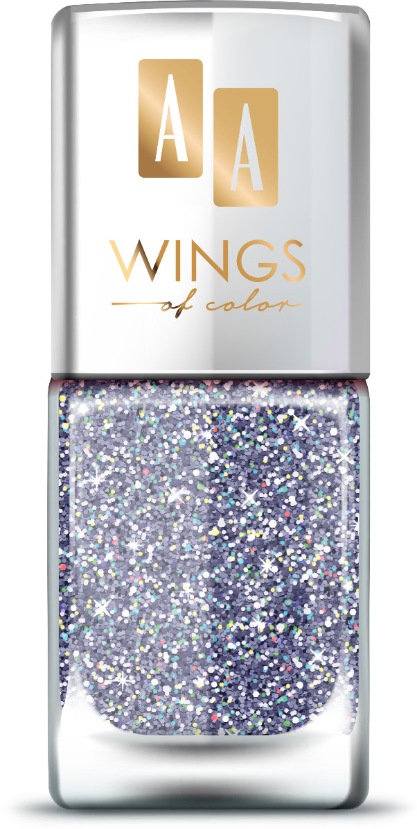 Oceanic AA Wings of Color Summer Festival brokatowy holograficzny lakier do paznokci 105 VIOLET 11 ml