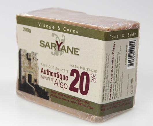 SATIS SA Mydło z Aleppo 20% 200g Saryane SA0044