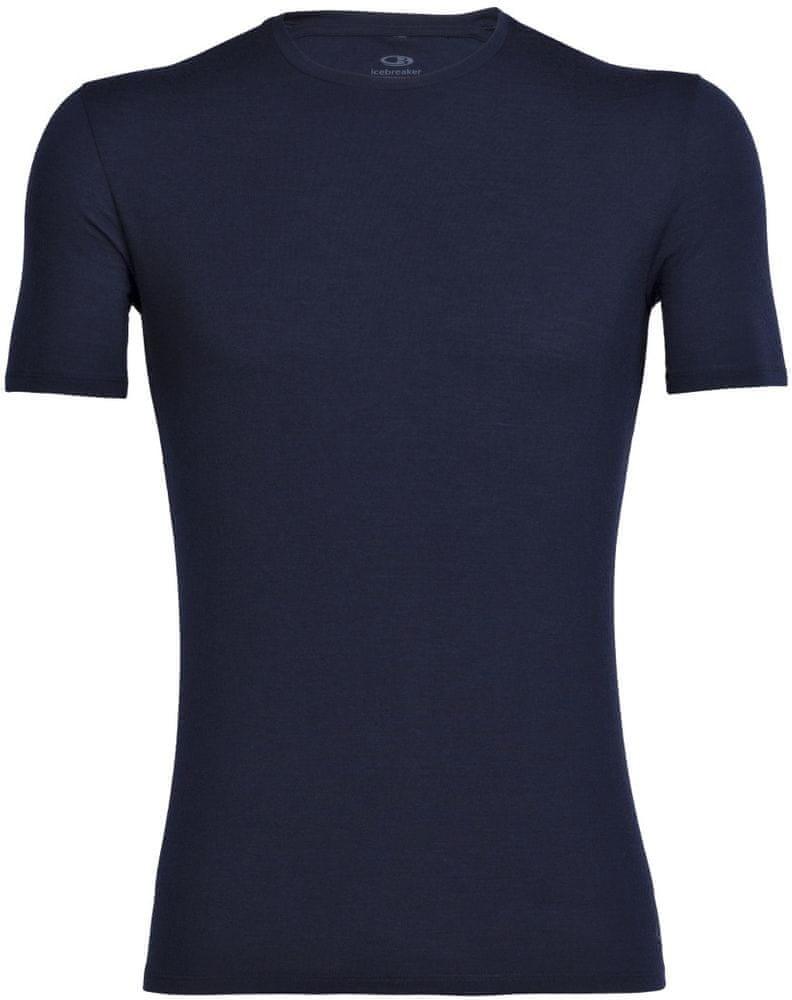 Icebreaker koszulka męska Mens Anatomica Ss Crewe Midnight Navy S