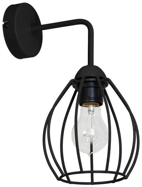 Milagro Druciana LAMPA ścienna DON 746 metalowa OPRAWA industrialny KINKIET drut loft czarny 746