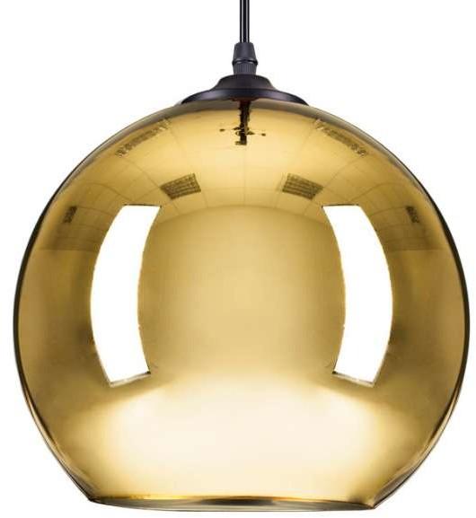 STEP LAMPA wisząca STEP ST-9021 L GOLD szklana OPRAWA zwis kula ball złota ST-9021 L GOLD