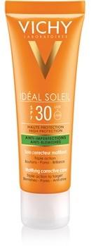 Vichy Idéal Soleil Capital krem matujący do opalania twarzy do skóry tłustej i mieszanej 50 ml