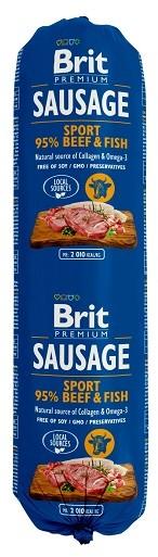 Brit Sausage Beef & Fish 800g PBRI252_PAK12