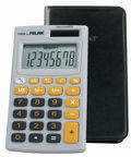 MILAN Kalkulator kieszonkowy w etui 8 pozycyjny szaro pomarańczowy