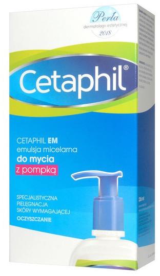 Cetaphil GALDERMA POLSKA SP. Z O.O. EM, emulsja micelarna do mycia, 236 ml, pompka