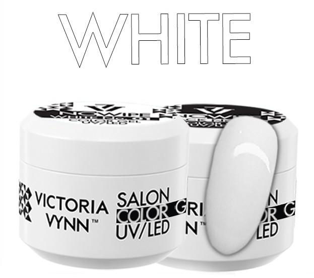 Victoria Vynn COLOR GEL NO WIPE Victoria Vynn White - żel kolorowy bez warstwy dyspersyjnej - 5 ml 330407-victoria-vynn