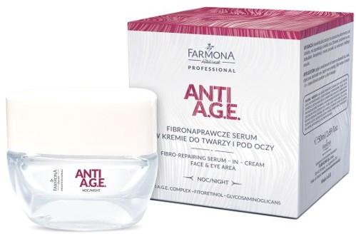Farmona ANTI A.G.E. Fibronaprawcze serum w kremie do twarzy i pod oczy 50ml