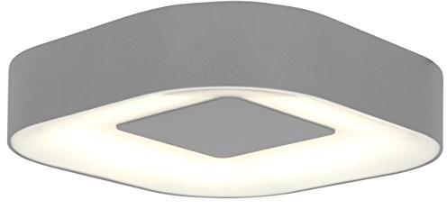 Eco Light ECO Light nowoczesna lampa zewnętrzna do ściany lub sufitu ublo IP54, kwadratowa z okrągłymi rogami, 16,3x 16,3cm, srebrny 3501S Si 3501 S SI