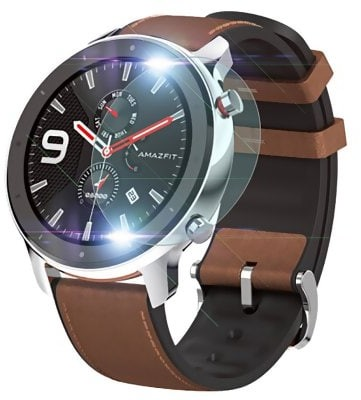 TAMISTER Tempered Glass HD Protective Film for Amazfit GTR 2PCS