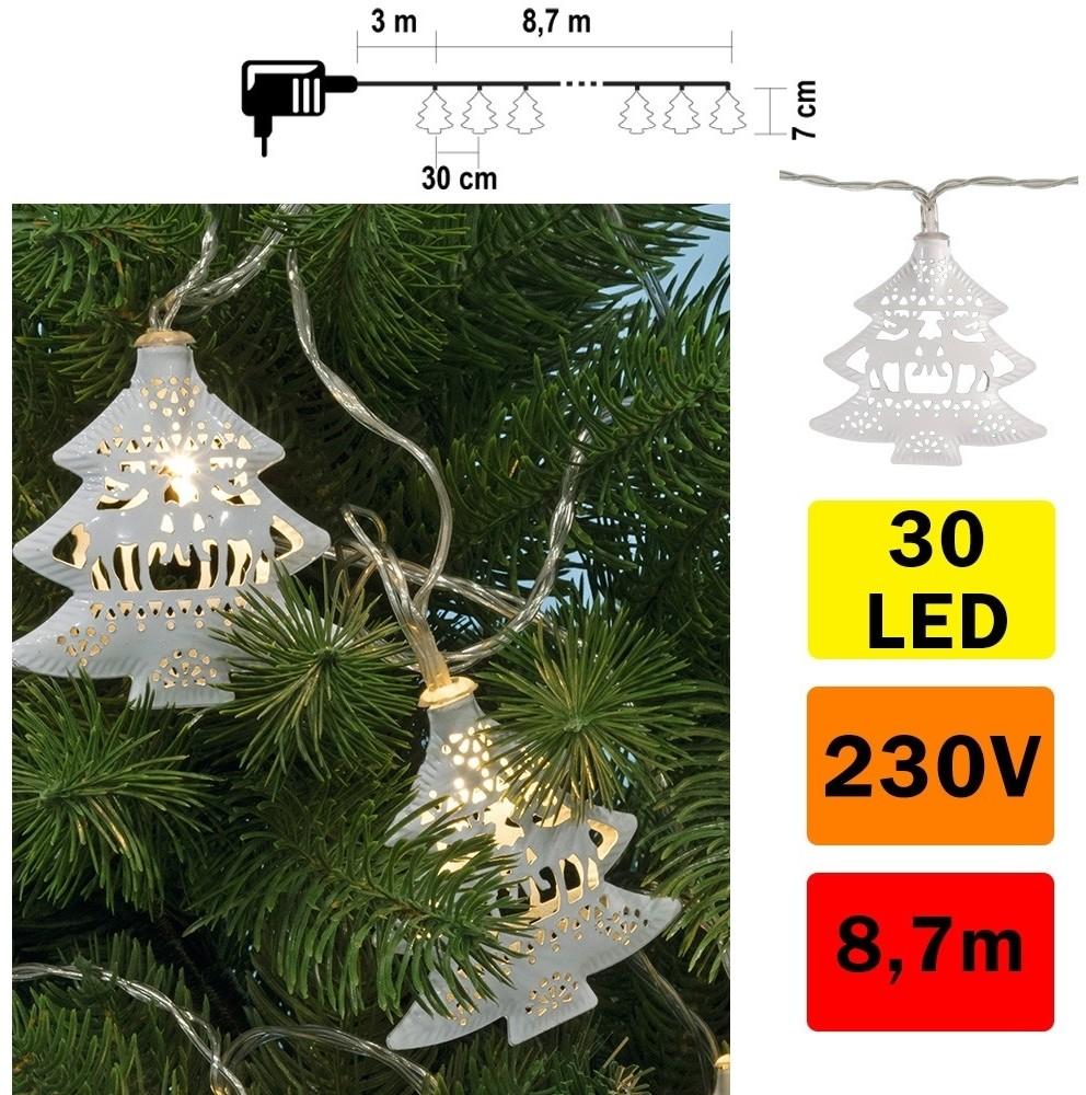 FK Technics LED Łańcuch świąteczny 30xLED/230V