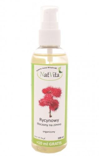 NatVita Nat Vita Olej rycynowy tłoczony na zimno - organiczny - 110ml 01139