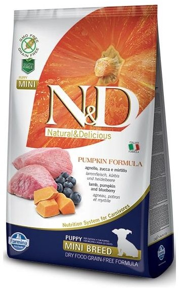 Farmina N&D Grain Free Puppy Mini Pumpkin Lamb&Blueberry