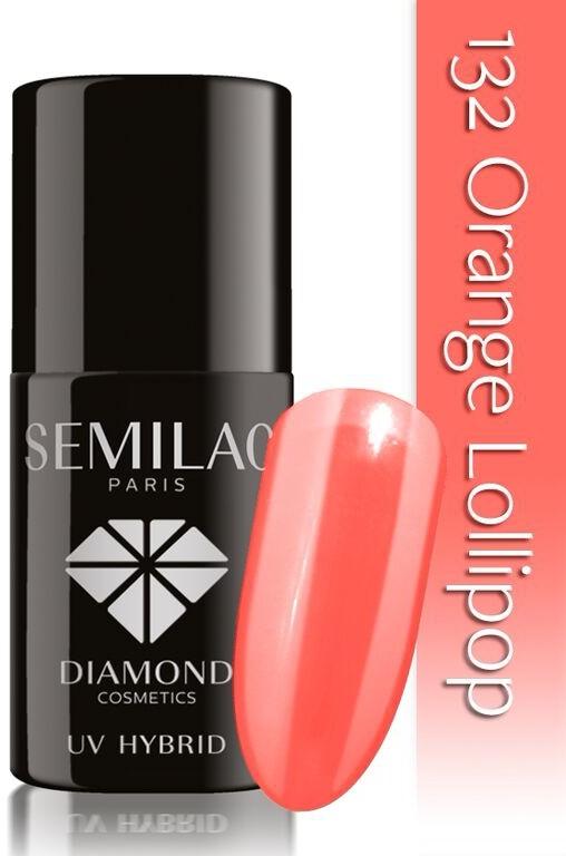 Semilac Lakier Hybrydowy Semilac 132 Orange Lollipop - 7 Ml 4909