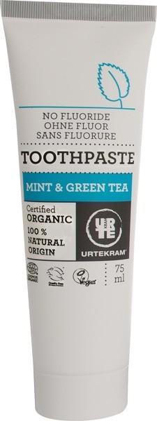 Urtekram Pasta do zębów z miętą i zieloną herbatą 5291