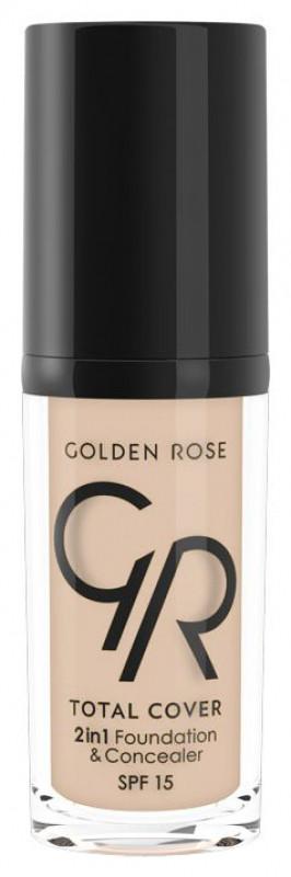 Golden Rose Total Cover 2in1 Fundation & Concealer - Podkład i korektor w jednym - 05 - COOL SAND GOLID2W-ZY2W-04