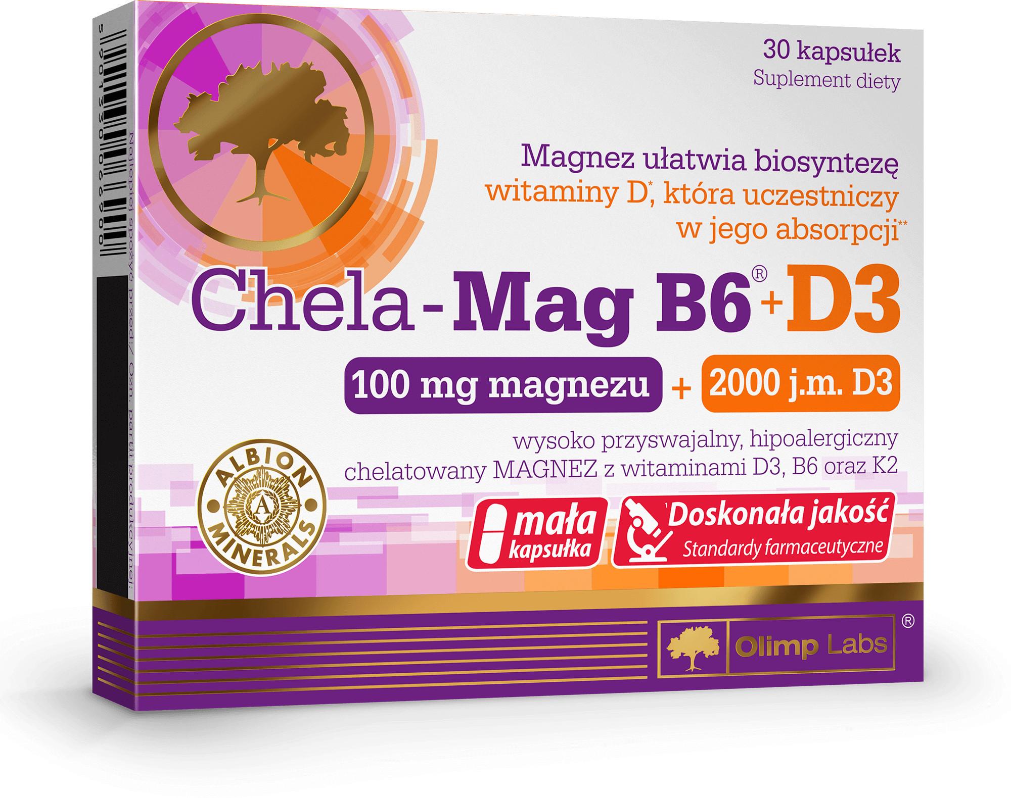 Olimp CHELA MAG B6 + D3 30 kaps 3482421