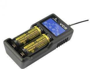 Xtar VC2 Ładowarka do akumulatorów cylindrycznych Li-ion 18650