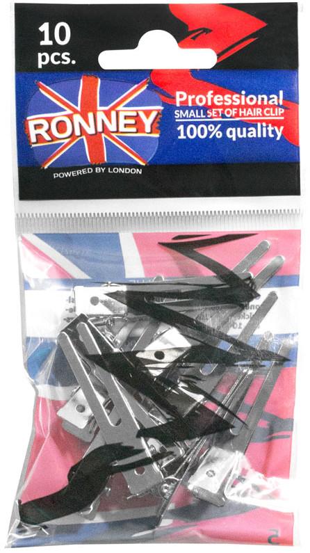 ronney RONNEY Profesjonalne klipsy fryzjerskie 10 szt (30939/10) 8680