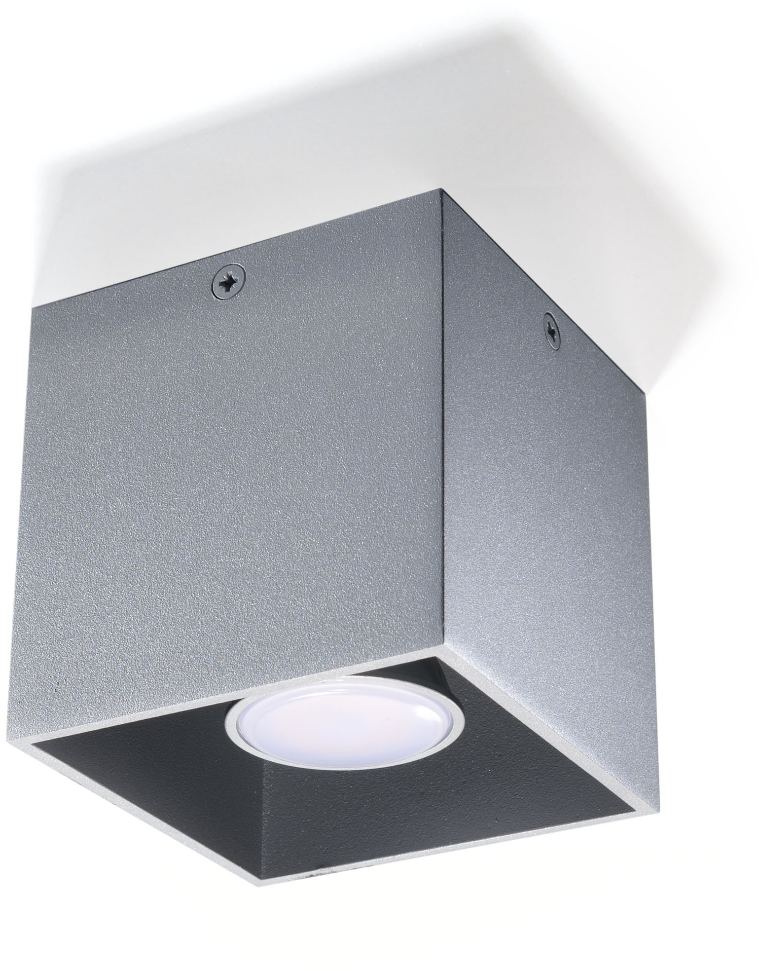 Sollux Lighting Quad lampa sufitowa 1-punktowa szara SL.0024