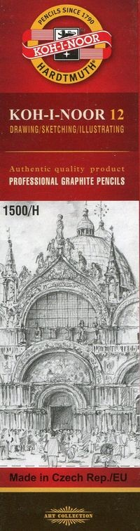 Koh-i-noor Ołówek grafitowy 12 sztuk 1500 H
