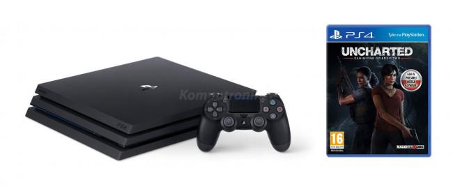 Sony PlayStation 4 Pro 1TB Czarny + Uncharted Zaginione Dziedzictwo