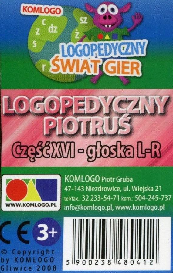 Komlogo Komlogo, karty Logopedyczny Piotruś Część XVI: głoska L-R