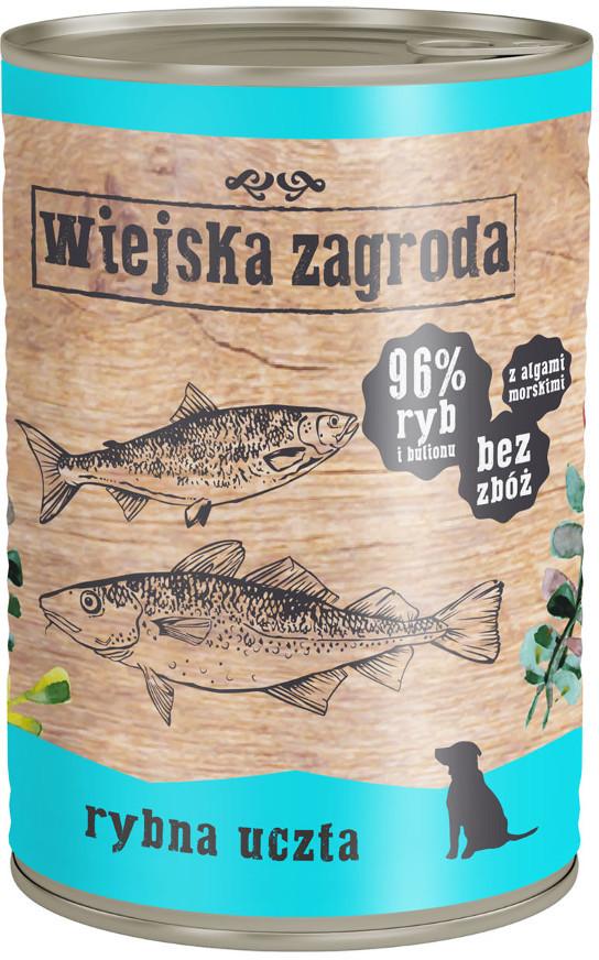 Wiejska Zagroda Karma z rybami dla psa 400g