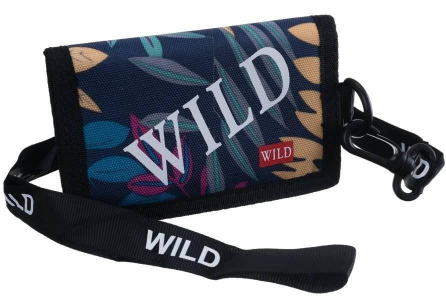 Always Wild Sportowy, młodzieżowy portfel poziomy ze smyczą, zamykany na rzep