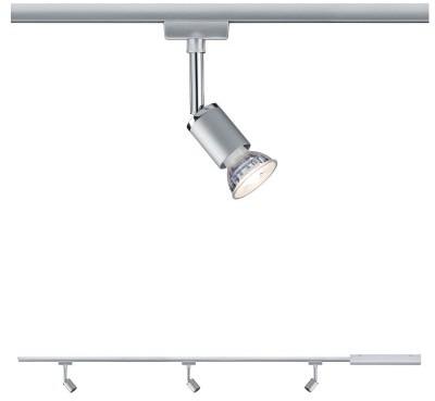 Paulmann Zestaw szynowy startowy STARTER SET PURE II LED GU10 chrom mat 95463 95463