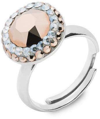 Swarovski Alessandra unique Srebrny pierścionek z kryształami