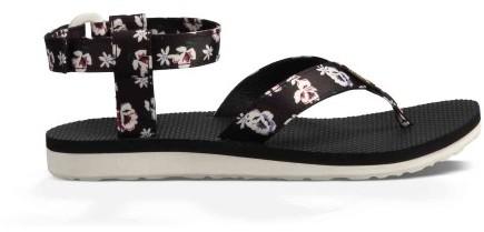 Sandały Turystyczne Damskie Teva Original Sandal Czarny w Kwiatki