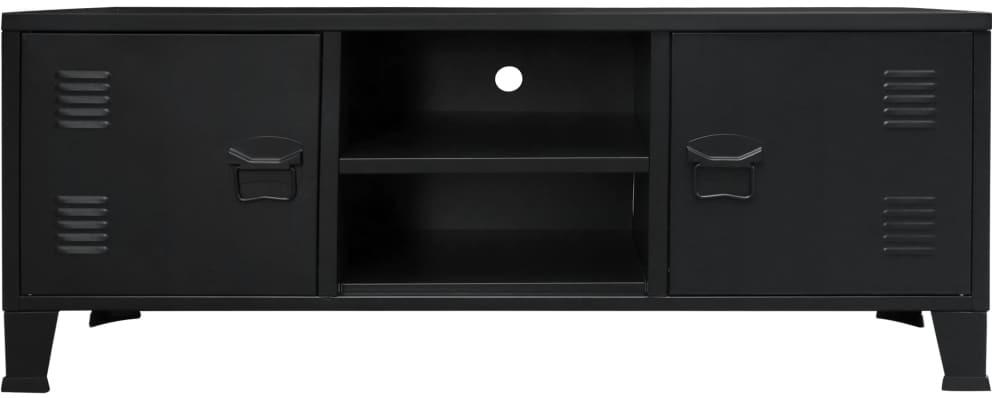 vidaXL Metalowa szafka TV w industrialnym stylu, 120x35x48 cm, czarna
